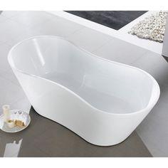 Eviva Smile 67 in. Freestanding Soaking Bathtub - EVTB6219-67WH