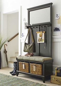 Make your entryway, mudroom or foyer feel as fashionable as you do. Crate and Barrel has beautifully durable entryway benches you'll enjoy using every day. Black Storage Bench, Black Bench, Entryway Bench Storage, Entry Bench, Entryway Organization, Entrance Hall, Crate And Barrel, Furniture Making, Home Projects