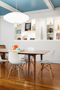 """This family home was decked out with decor, furniture and a considered color palette that worked with existing pieces. """"Kid-friendly"""" was at the top of the priority list as observed by swing hanging from the ceiling. Tour the space with tips from our designer Megan!"""