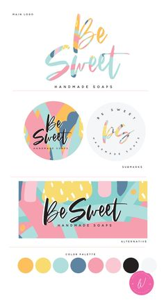 Colorful Logo Abstract Logo For Decor Business Soap Business Web Design, Brand Design, Brand Identity Design, Business Branding, Logo Branding, Free Business Logo, Bakery Business Cards, Corporate Branding, Logo Abstrait