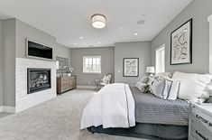 Grey carpet bedroom ideas can be something really unique for your living. These grey carpet bedroom ideas will certainly embrace the look. So, here are some inspiration grey carpet bedroom ideas that you may apply to your lovely bedroom. Grey Carpet Bedroom, Gray Bedroom, Living Room Carpet, Trendy Bedroom, Home Decor Bedroom, Bedroom Ideas, Master Bedroom, Extra Bedroom, Design Bedroom
