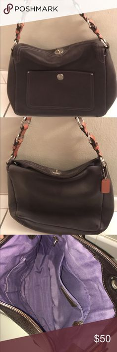 Coach Small Brown Hobo Bag Coach Small Brown Hobo Bag. Great condition. Cool vintage style. Coach Bags Hobos