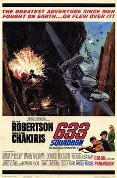 633 Squadron, war movie poster - Cliff Robertson