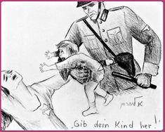 Ella Liebermann. 16 Años .Los niños son arrancados de los brazos de sus madres.Gueto de Bedzin. Polonia