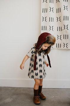 the Vintage Dress in Linen Holiday Dress| Handmade Dress for Girls| Toddler Style| Christmas Outfit Inspo| Girls Dog Dress| Winter Linen Dress| Toddler Fashion| Girls Dress| ewmccall|