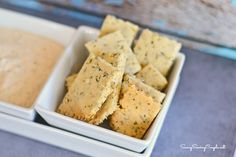 Gluten Free Almond Herbed Crackers *Also Vegan. Very tasty, and simple to make.