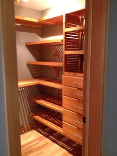 A Double Hang Section Easily Converted Into Storage With 4 Additional  Shelves Added.
