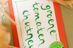 Groene tomatenchutney