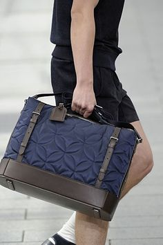 the new work bag // Louis Vuitton SS 2012 #menswear #simplydapper #stylish