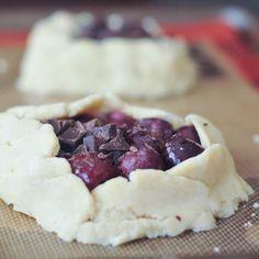 easy gluten free pie crust -  dark chocolate cherry galette  mmmm!