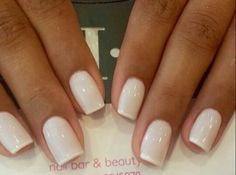 Lovely french mani using whites and a very small top.