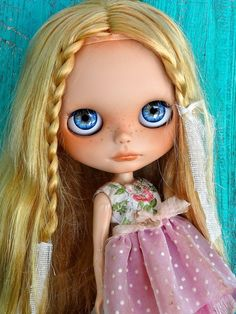 Custom OOAK Blythe doll Summer by PetiteAppleShop