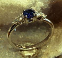 Hand Made in Canada Platinum Ceylon Blue by DanielSommerfeld, $5632.11