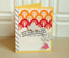You Make Me Happy Card by Danielle Flanders for Papertrey Ink (June 2012)