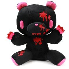 """14"""" Gloomy Bear Plush Doll Toy Black Color with Blood ($60) ❤ liked on Polyvore featuring stuffed animals, plushies, toys, home and other"""