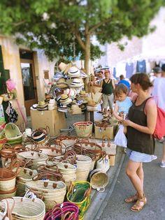 Santanyi Wochenmarkt Körbe