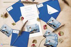 Pierwsza Komunia Święta - zaproszenie z magnesem w okładce otwieranej wraz z kopertą z naklejką