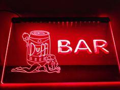 LA469- BAR Duff Beer LED Neon Light Sign home decor-Sign Light Neon Bar