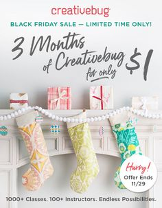 A Black Friday Creative Bug Promotioin For Craft Classes and Craft Workshops where you can get THREE Months of Creative Classes for A DOLLAR! Just $1!!! That's amazing! Learn how to sew, learn how to crochet, learn how to knit, learn how to create an art journal, learn how to fill an art journal! It's all possible!! #crafts #crafting #craftsposure #knitting #sewing #sewingproject aff link Art Journal Prompts, Art Journal Techniques, Journal Ideas, Korean Stationery, Kawaii Stationery, Homemade Crafts, Diy Crafts To Sell, Sewing Tutorials, Sewing Projects