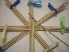 Moje pletení z papíru - Fotoalbum - NÁVOD - NA PLETENÁ DNA - NÁVOD - na pletené dno-DVOJITÝ KŘÍŽ