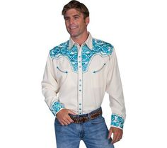 Scully Men's Floral Embroidered Western Shirt Cream Small... https://www.amazon.com/dp/B00FCXE330/ref=cm_sw_r_pi_dp_x_qQmczbJXHR2KG