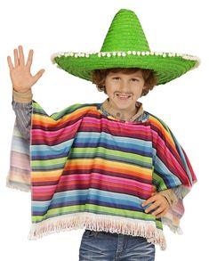 Bunt Gestreifter Poncho Für Jungen Fancy Dress Costumes Kids, Boys Fancy Dress, Full Body Costumes, Kung Fu Panda, Charlie Chaplin, Power Rangers, Dressing Up Storage Kids, Mexican Fancy Dress, Superman