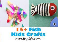 fish craft - ocean kid craft - crafts for kids- kid crafts - acraftylife.com #preschool