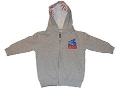 Chicago White Sox Saag Toddler Gray Zip Up Hooded Long Sleeve Jacket (2T), Grey