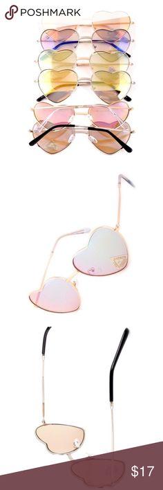 Retro Polarized Heart Sunnies with Free Pouch. Fabulous and funky in a variety of color combos.  Polarized and big for max coverage.  Free eyeglass pouch...choose from zebra, leopard, or geometric. Sugar Punch Couture Accessories Sunglasses