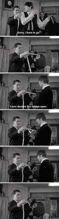 "Just John Lennon being John Lennon If you like British humor, watch the Beatles movie ""A Hard Day's Night. I always loved that part about the bridge! John Lennon, Beatles Funny, Beatles Love, Beatles Poster, Beatles Guitar, Ringo Starr, George Harrison, Paul Mccartney, Abbey Road"
