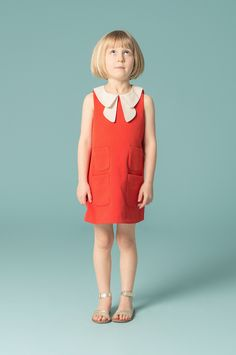 Super smart kidswear by Hucklebones featuring their signature double collar detail.