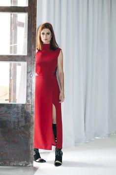 Giuliana Romanno foi fotografada pela primeira vez com suas próprias roupas para parte da campanha de inverno 2015 de sua marca