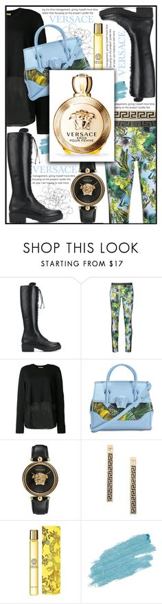 """VERSACE"" by celine-diaz-1 ❤ liked on Polyvore featuring Versace and Jane Iredale"