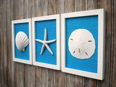 Cottage Chic Set of Beach Wall Art Nautical by OMearasCottageCharm