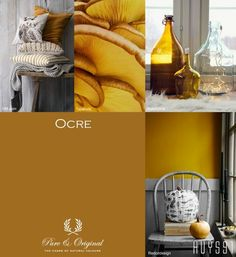 Pure & Original online store for the USA. Find information and get inspired by our specialty paints. Chalk based paint, lime paint, and plaster paint. Yellow Paint Colors, Yellow Painting, Wall Colors, House Colors, Lime Paint, Bohemian Bedroom Decor, Bedroom Colors, Colorful Interiors, Colour Pallette