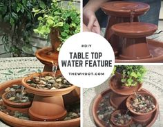 Clay Pot Fountain Instructions Video Tutorial Super Easy DIY