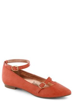 Flawless Frolic Flat in Red, #ModCloth. For you my dear, anytime.