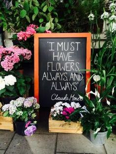 Gardening thought for the day: 'I must have flowers always and always' Monet Flower Cafe, Flower Truck, Flower Shops, Flower Shop Decor, Flower Shop Interiors, Flower Quotes, Flower Puns, Cut Flower Garden, Advent