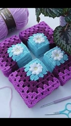 Discover thousands of images about Crochet motif chart patterncrochet square pattern Crochet Bedspread Patterns Part 17 - Beautiful Crochet Patterns and Knitting Patterns - Crochet Bedspread Patterns Part Granny Square Rose SThis Pin was di Crochet Squares Afghan, Crochet Bedspread Pattern, Crochet Cushions, Crochet Blocks, Granny Square Crochet Pattern, Crochet Flower Patterns, Afghan Crochet Patterns, Crochet Motif, Crochet Designs
