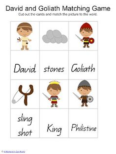David and Goliath Tots to Prep Pack - Friday Freebie - A Moment in our World