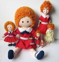 Vintage Annie Dolls - Knickerbocker Rag Dolls