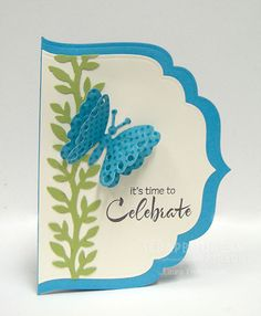 Unusual (in a good way!) shape for a card, using a large die or a Cricut machine