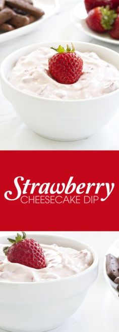 Strawberry Cheesecake Dip comes together in minutes and is the perfect quick…