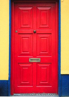 I want to live behind a red door.  Currently, I live behind a spring green one, which isn't too bad either.