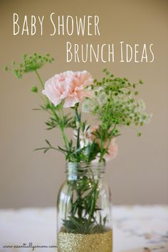 Tips to hosting the perfect baby shower brunch.  Party Ideas, Blush, Gold, Cheers, Mimosa Bar, it's a girl, baby announcement, third trimester, celebrate, shower, whimsical, elegant