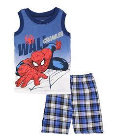 Look what I found on #zulily! Spider-Man 'Wall Crawler' Tank & Shorts - Toddler & Boys #zulilyfinds