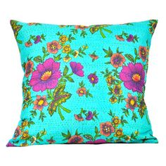I pinned this Large Kantha Cushion Cover in Blue from the HOLI event at Joss and Main!