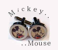 Mickey Mouse Comics  cufflinks cuff links vintage by lizzybleu, $20.00