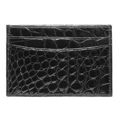 Alligator Slim Card Case Wallet
