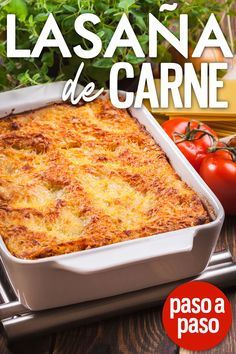 Prepare this easy lasagna recipe in only four steps, we assure you that this Italian pasta will leave you wanting more. Cuban Recipes, Italian Recipes, Healthy Recipes, Meat Lasagna, Easy Lasagna Recipe, Weird Food, Recipe Steps, Italian Pasta, Meatloaf Recipes